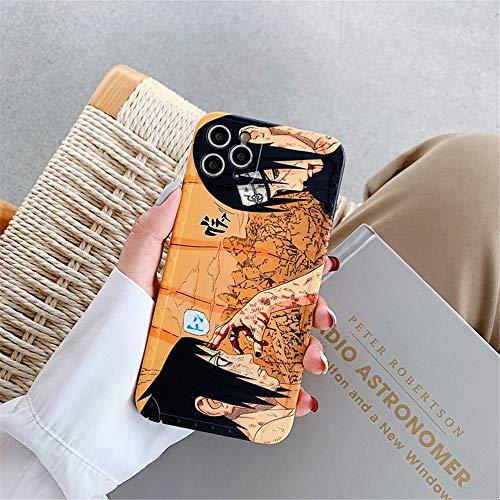 Wyalm Comics Naruto Kakashi Uchiha Itachi Sasuke Teléfono Funda para iPhone 12 11 Pro X XS MAX XR 7 8 Plus Infinite Tsukuyomi Soft Cover (Color : 2, Size : Iphone12 Pro)