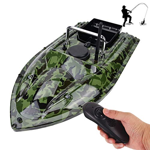 AHWZ Fishing Tool Smart RC Bait Boat Dual Motor Fish Finder Ship Boat Remote Control 500M Fishing Boats Speedboat,Camouflage