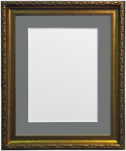 Frames BY POST fotolijst in shabby-chic-look Donkergrijze houder 40 x 30 cm Image Size 12 x 10 Inches goud