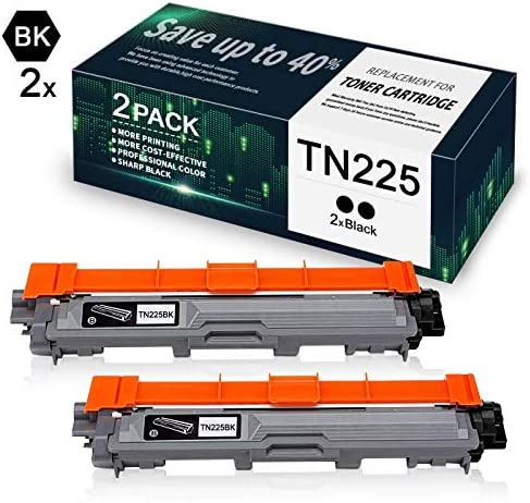 Black TN225BK Compatible Toner Cartridge Replacement for Brother MFC 9130CW MFC 9140CDN MFC product image