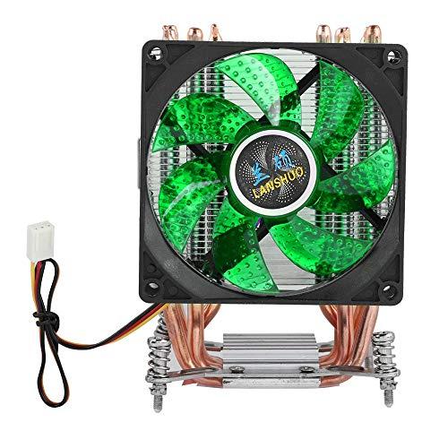 6 Heatpipe CPU Cooler, 2200RPM Disipación de Calor rápida PC Radiat Fan, 22dBA Presión hidráulica Super Silent CPU Heatsink(luz Verde #5)