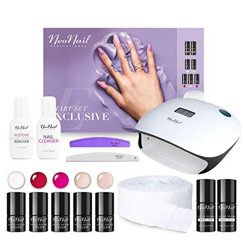 NEONAIL Smart Set Exclusive 5x UV Nagellack 3ml LED Lampe 36W/48W + Zubehör NEONAIL Nagelstudioset Geschenkbox Nagelstudio Set Nail Set