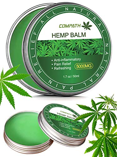 Hemp Salve for Pain Relief - Max Strength | 100% Natural Ointment | Perfect for Knee, Joint, and Back Pain-50ml(5000mg)