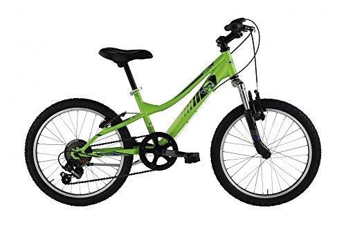 Mountain Bike FLIP da ragazzo con telaio in acciaio 32 cm, forcella ammortizzata Verde