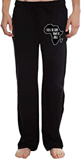 Mens Jogger Sweatpants I Bless The Rains Down in Africa Open Bottom Jersey Pant