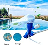 EROCK Detachable Swimming Pool Vacuum Jet Cleaner, Portable Pool Vacuum Cleaning Tool Kit, Pond Fountain Underwater Cleaner for Leaves, Dirt, Sand & Silt, with Brush Bag 5 Pole Sections