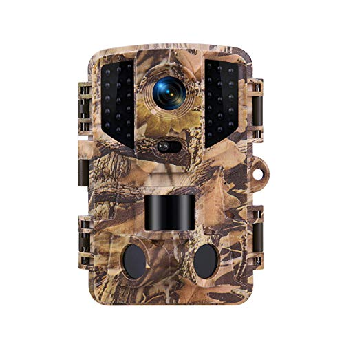 TOMSHOO Trail Camera 16MP 1080P Hunting Camera Waterproof with 3 PIR Sensors and 0.2s Trigger Time for Outdoor Nature, Garden and Home Security Surveillance