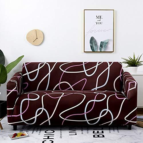 ASCV Funda de sofá de celosía elástica para Sala de Estar Funda de Silla de sofá Funda de sofá elástica para decoración de Sala de Estar sofá A4 3 plazas