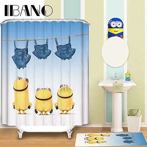 Generic 4, 165x 180cm: Minions individuell Duschvorhang Muster Duschvorhang Wasserdicht Badezimmer Stoff 165x 180cm Duschvorhang für Badezimmer