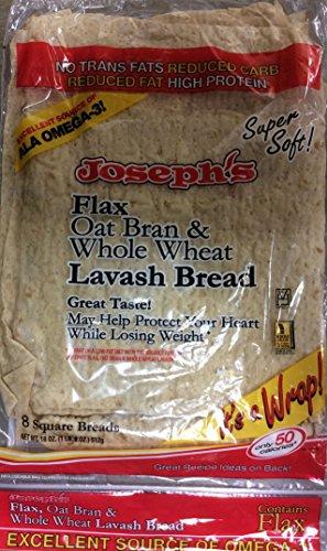 Josephs Flax Oat Bran & Whole Wheat Lavash Bread, 18 OZ