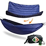 onewind Hammock Insulation Four Season Winter Camp Under Quilt Blanket Set, Lightweight Night Protector Sleeping Bag 15-30 Degree (UDQBLK211330B)