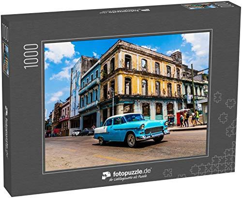fotopuzzle.de Puzzle 1000 Teile Havanna, Kuba. Oldtimer-Klassiker aus Amerika auf den Straßen der pulsierenden Stadt (1000, 200 oder 2000 Teile)