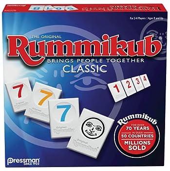 Rummikub by Pressman - Classic Edition - The Original Rummy Tile Game Blue