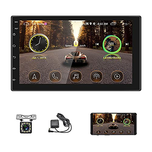 7 Pollici Autoradio 2 DIN Android GPS Navigazione Car Radio Bluetooth WiFi Car Stereo HD Touch Screen 1G 16G Car Multimedia Radio WiFi Mirror Link con Rear View Fotocamera