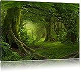 Pixxprint Dschungel im Regenwald als Leinwandbild  