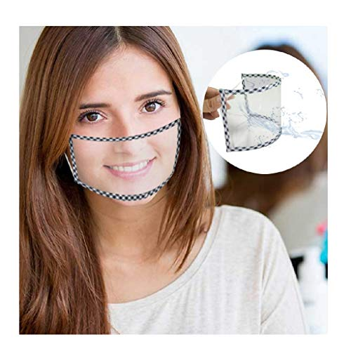 1 Stück Flexibel mundschutz transparent Lippen Mundschutz mit klarem Fenster, Waschbar Staub Wiederverwendbare mundschutz, Lip Speaking Visual mundschutz Für Gehörlose