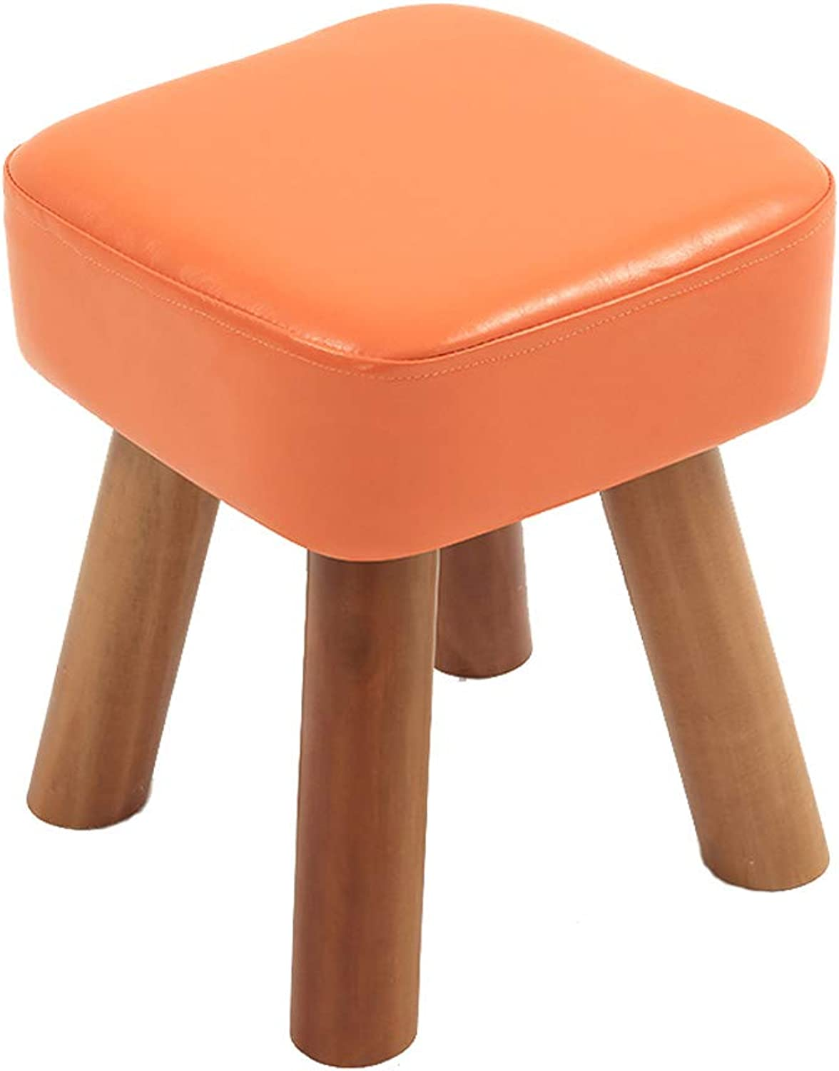 HLJ Simple Home Small Bench Coffee Table Stool Personality Living Room Sofa Bench Fashion Change shoes Stool (Size   28  28  32cm)