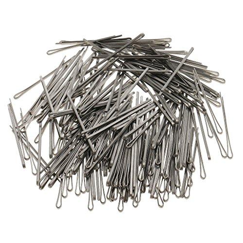MagiDeal 100pcs Pinces Pin Clips en Forme U en Métal Hairpins Barrette pour Salon de Coiffure