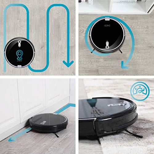 ZACO A8s Saugroboter mit Wischfunktion, App & Alexa Steuerung, 7,2cm flach, automatischer Staubsauger Roboter, 2in1 Wischen oder Staubsaugen, für Hartböden, Fallschutz, mit Ladestation - 10