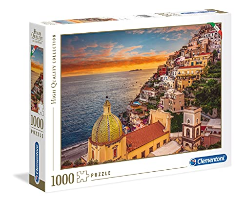 Clementoni- High Quality Collection-Positano Puzzle, 1000 Pezzi, Multicolore, 39451
