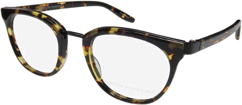 Barton Perreira Paulina Womens Ladies Designer Fullrim Eyeglasses Eyewear (4822140, Tortoise Pattern   Black)