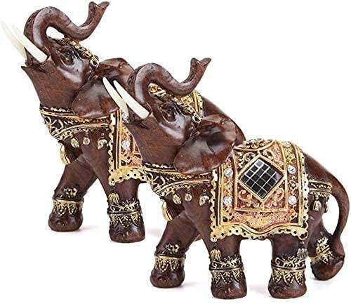 LULUDP Sculpture Estatua del hogar Ilustraciones de arte escultura estatua estatua elefante estatuilla escultura oficina oficina afortunado feng shui elefante ornamento riqueza decoración congratulato
