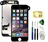 Screen Replacement Compatible with iPhone 7 Black Full Assembly LCD 3D Touch Display Digitizer with Ear Speaker Sensors Front Camera and Repair Tools