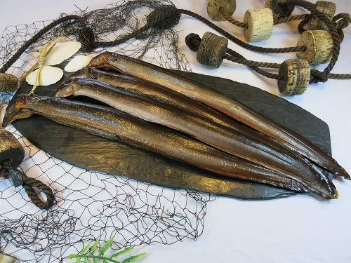 Räucheraal / geräucherter Aal - über echtem Buchenrauch geräuchert - zartes saftiges Fleisch mit dezenter Rauchnote - 500 Gramm (verteilt auf 2 Aale)