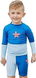 LSERVER 水着 男の子 子供服 フィットネス 上下 速乾 長袖 競泳水着 スイムウエア ボーイズ セパレート 90/100/110/120/130