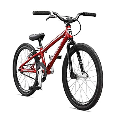 Mongoose Title Pro XXL BMX Race Bike, 20-Inch Wheels, Beginner to Intermediate Riders, Lightweight Aluminum Frame, Internal Cable Routing, Red