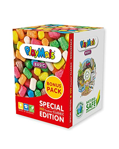 PlayMais BONUS PACK BASIC für Kinder ab 3 Jahren   Motorik-Spielzeug mit 500 PlayMais   Fördert Kreativität & Feinmotorik…
