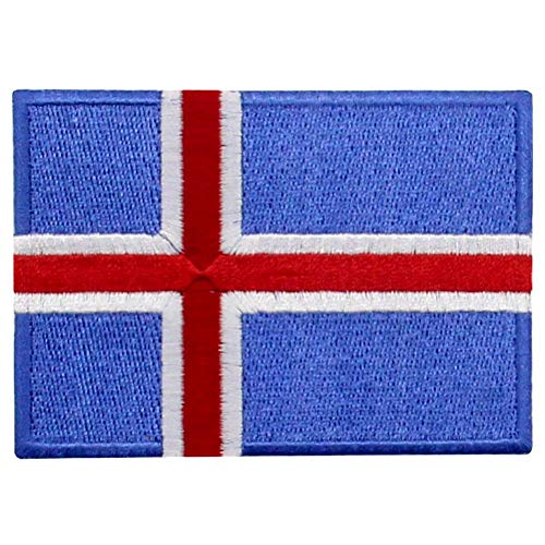 Bandera islandia Parche Bordado Aplicación Plancha