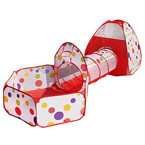 Contever Carpa para Niños 3 Partes Pop Up Tienda de Juegos con Juego de...