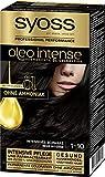 Syoss Oleo Intense Permanente Öl-Coloration, Haarfarbe 1-10 Intensives Schwarz, mit pflegendem Öl...