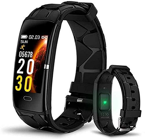 Reloj inteligente para correr con reloj de pulsera IP67 resistente al agua para hombres y mujeres, negro