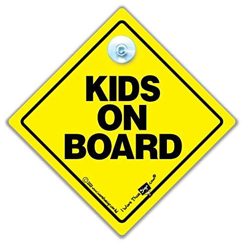 Kids on Board, Kid sur la planche, Kids sur panneau, panneau sur Board, voiture, Baby on Board Sign, Baby on Board, Bébéà Bord, Autocollant, Sticker pare-chocs, bébé signe, signe, nouveauté voiture pour bébé, signe, signe de sécurité pour bébé,