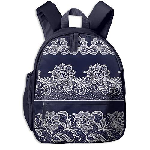 Kinderrucksack Kleinkind Jungen Mädchen Kindergartentasche Häkeln Sie Spitze Blumen Backpack Schultasche Rucksack