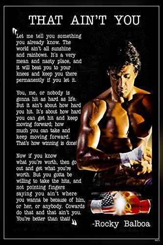 PosterHub HS-6621 - Póster de Rocky Balboa/Sylvester Stallone con acabado mate en papel (multicolor)
