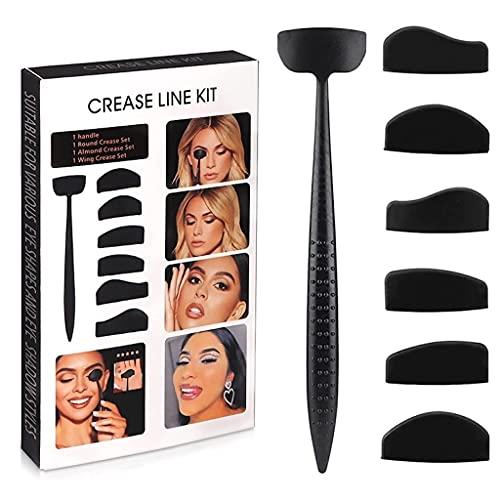 Pliegue de Sombra de Ojos - Kit Profesional 6 en 1 de Linea de Pliegue - Maquillaje fijador Parche Ojos