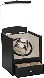Double Automatic Watch Winder with Quiet Mabuchi Motors and Watch Drawer Storage Box(Watch Winder)