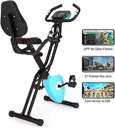 professionnel comparateur Folding exercise bike Profun Fitness bike 10 levels of reluctance and seat … choix