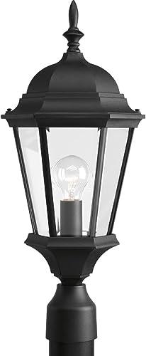 high quality Progress Lighting P5482-31 online sale 1-Lt. Post Lantern, 9-1/2-Inch Diameter x 21-1/4-Inch discount Height, Textured Black online
