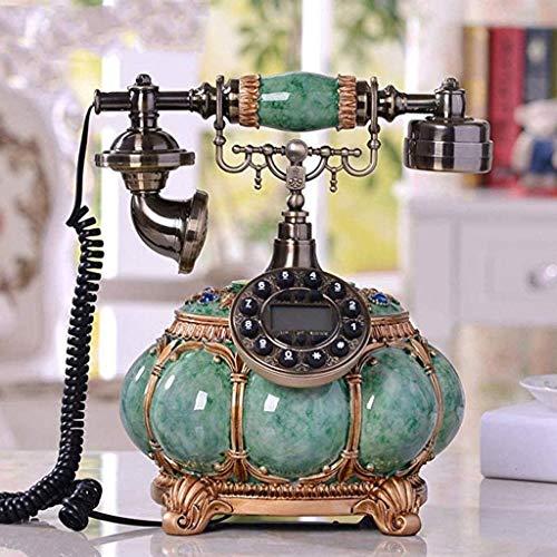 AWAING Telefonos Antiguos Vintage Teléfono Antiguo Teléfono Retro con Cable Creativo Oficina en casa Línea Fija Decoración del hogar-Verde