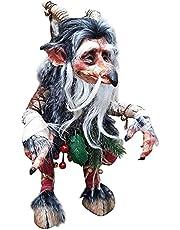 Garden Big Goblin - Vintage gotische Goblin tuin decor, handgemaakte hars kunst beelden, tuinkabouters van de Troll Clan, Halloween dwerg elf tuin tafelblad kunst decor