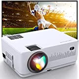 """MegaWise 1080P 200"""" Video Projector, 6000L with 2 Built-in 5W Speakers, 2xHDMI, 2xUSB Ports Portable Movie Projector, Compatible with TV Stick, Video Games, Smart Phone, HDMI,USB,VGA,AUX,AV"""