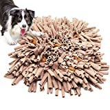 "Jmxu's Dog Snuffle Mat for Slow Feeding, Pet Interactive Foraging Puzzle Blanket, Nosework Training Mat Sniffing Pad for Cats Puppies, Durable and Machine Washable(17""×17"")"