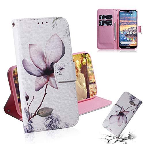 SHUYIT Nokia 4.2 Hülle, Farbe Muster PU Leder Hülle Brieftasche Flip Cover Hülle Ledertasche Schutzhülle Handyhüllen für Nokia 4.2 (2019) Schale mit Ständer Kartenfach Magnetisch