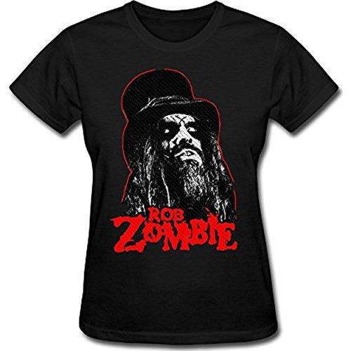 AKERY Women's Rob Zombie Logo T-Shirt M