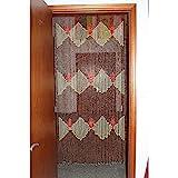 GuoWei-Cortinas de Cuentas Madera Colgante Cuerdas Puerta Panel Tabique Salón Armario Rústico (Size : 56 strands-90x195cm)