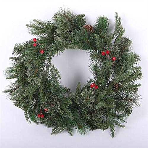 24in. ificial Pine Wreath-Thanksgiving Door Wreath-Thin Wreath-Clearance Wreaths-Small Wreath Bulk-Holiday Wreath-Artificial Holiday Wreath-Christmas Wreaths Clearance-Holiday Wreaths-Plain Wreath